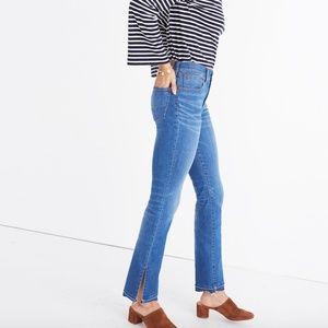 NWT Madewell Cali Demi-Boot Jeans: Split-Hem